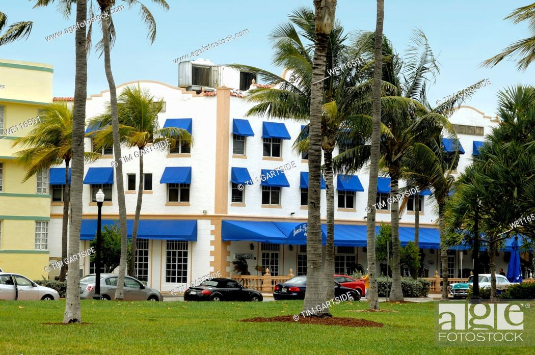 Stock Photo Beach Paradise Hotel 600 South Miami Florida Usa
