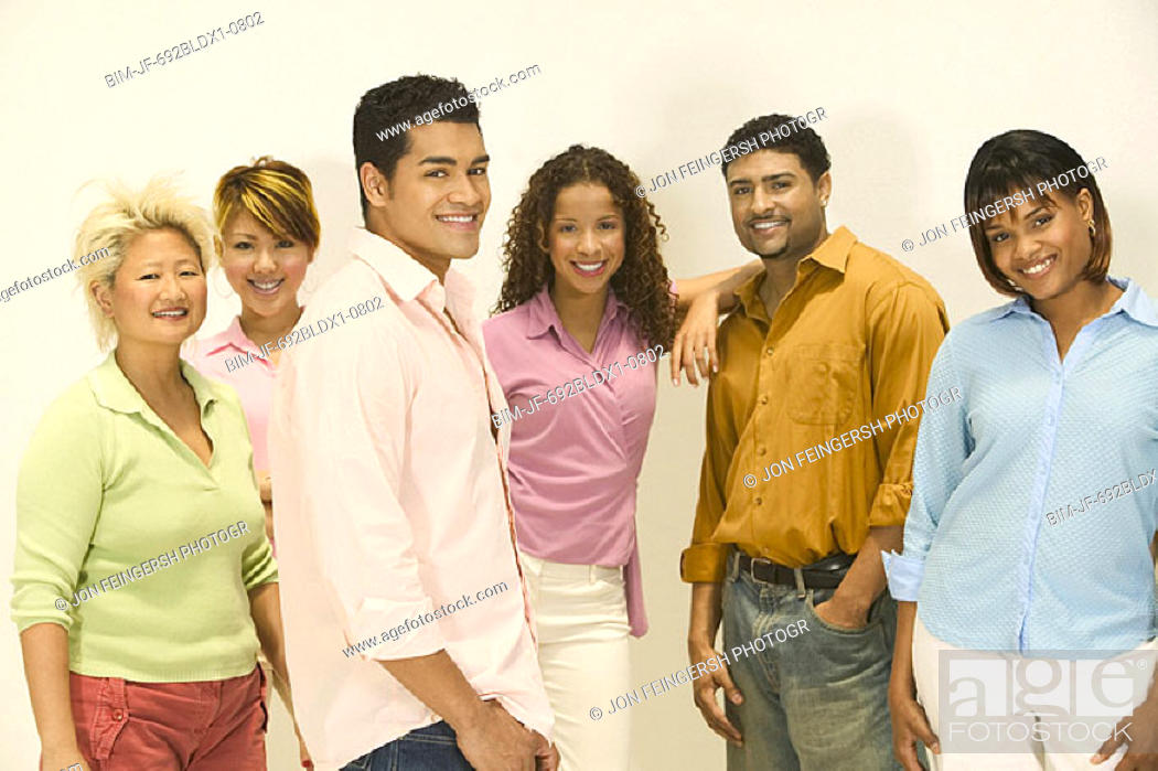 Stock Photo: Group of friends.