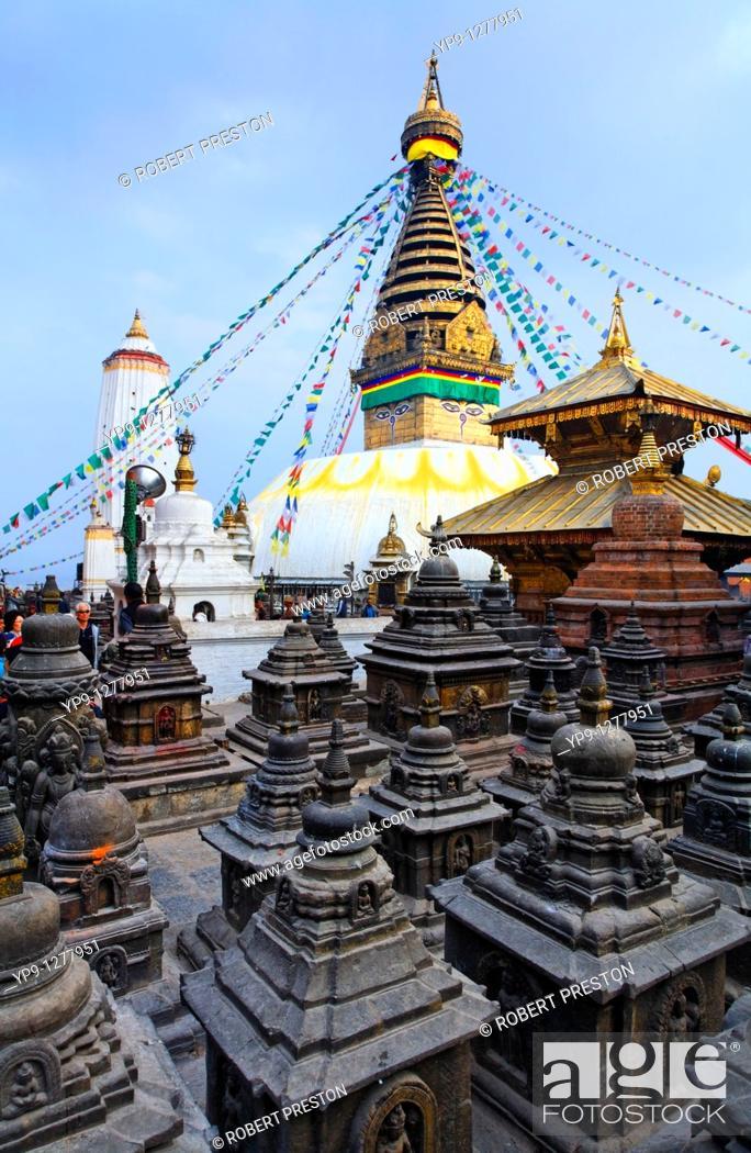 Stock Photo: Swayambhunath, the Monkey Temple, Kathmandu, Nepal.