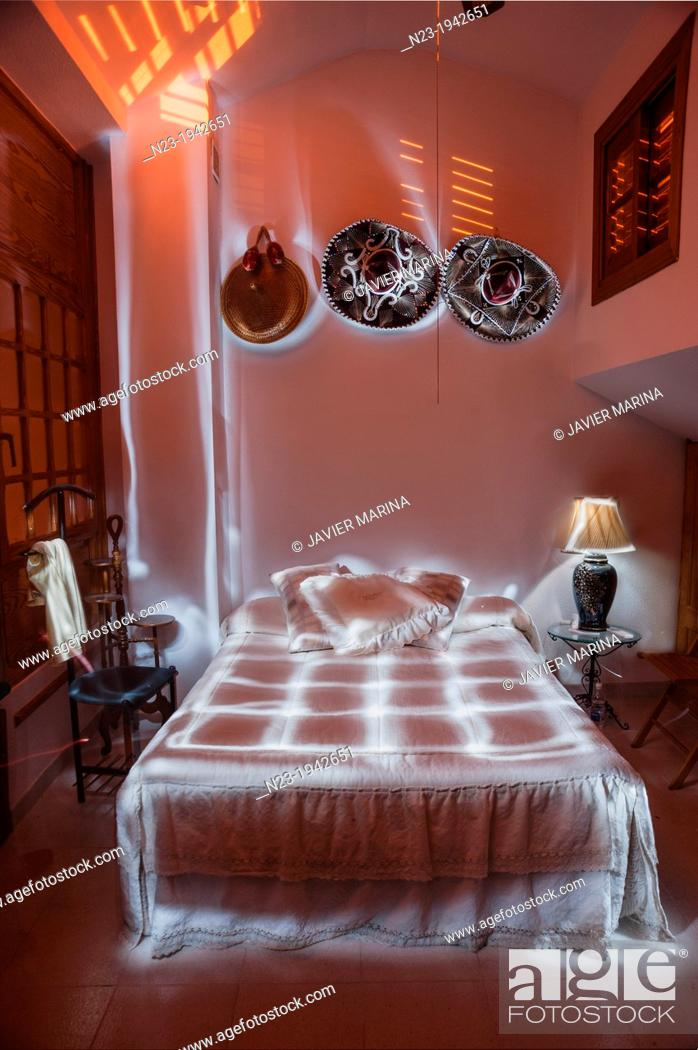 Stock Photo: Rooms painted with light, Valencia, Spain.