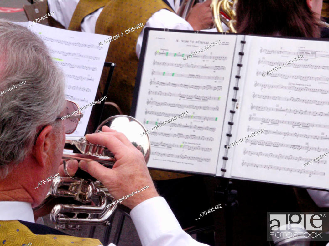 Stock Photo: Brass instruments, Switzerland.