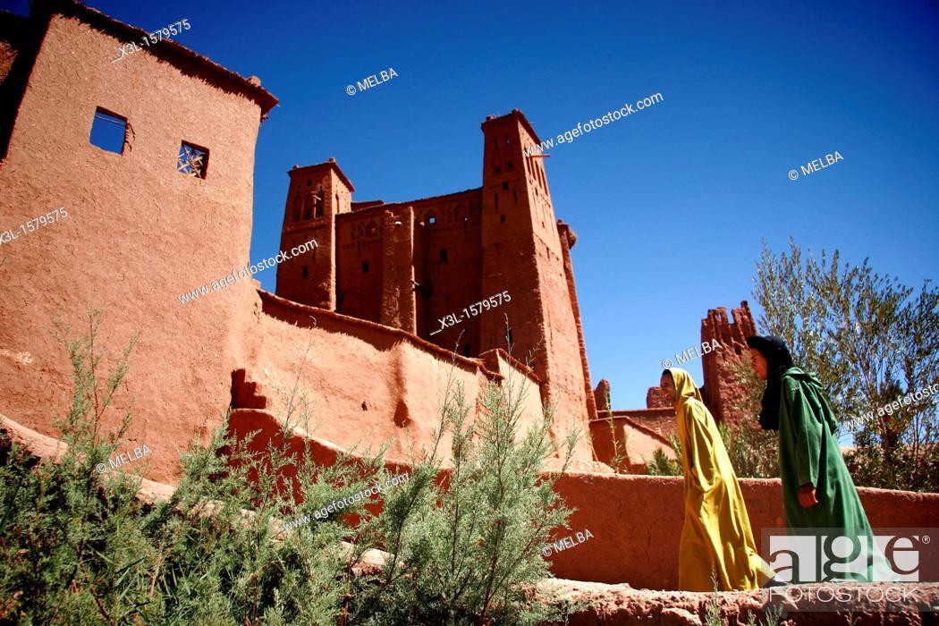 Stock Photo: Ait-Benhaddou Kasbah  Morocco.
