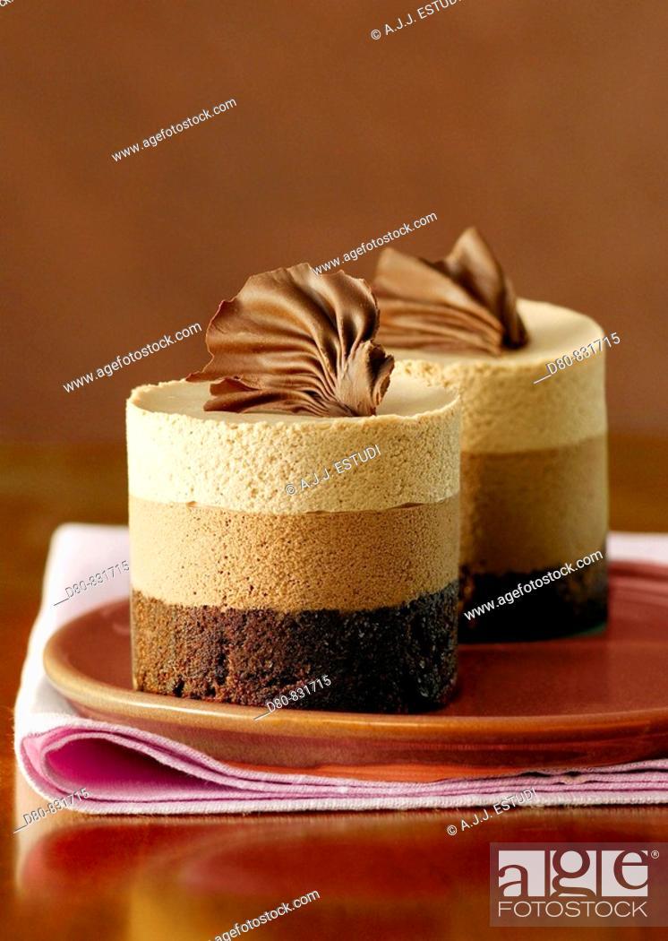 Stock Photo: Chocolate mousse.