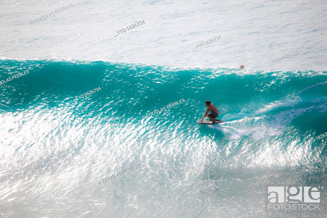 Stock Photo: Surfing, Honolua Bay, Kapalua, Maui, Hawaii.