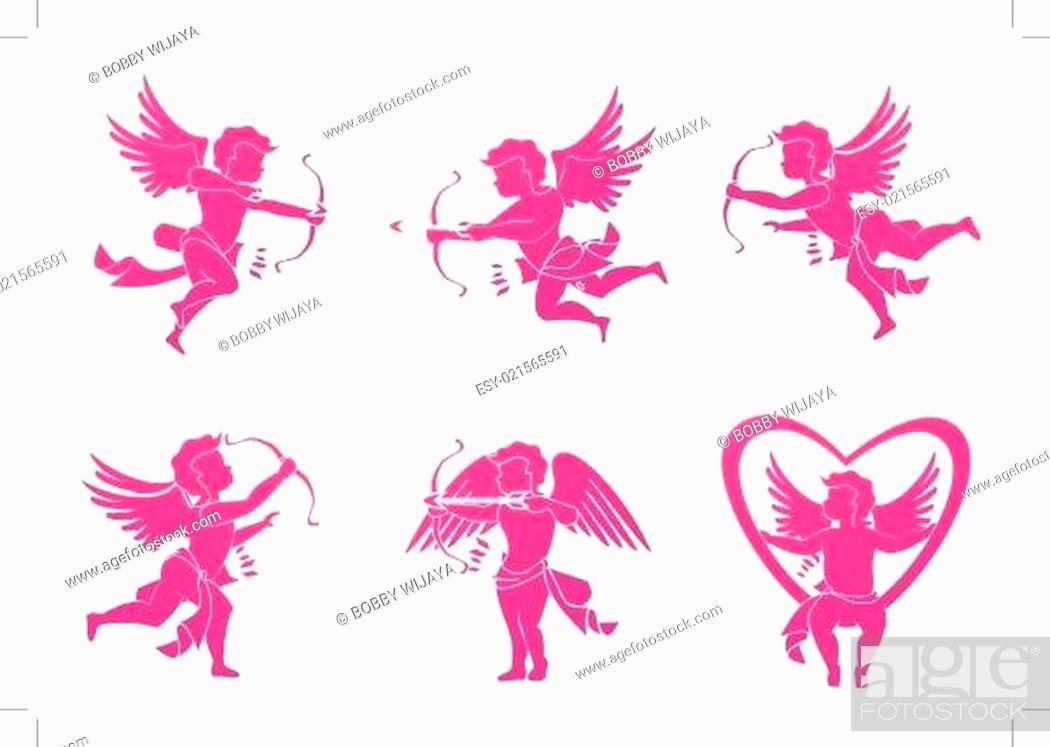 Stock Vector: Cupid love.