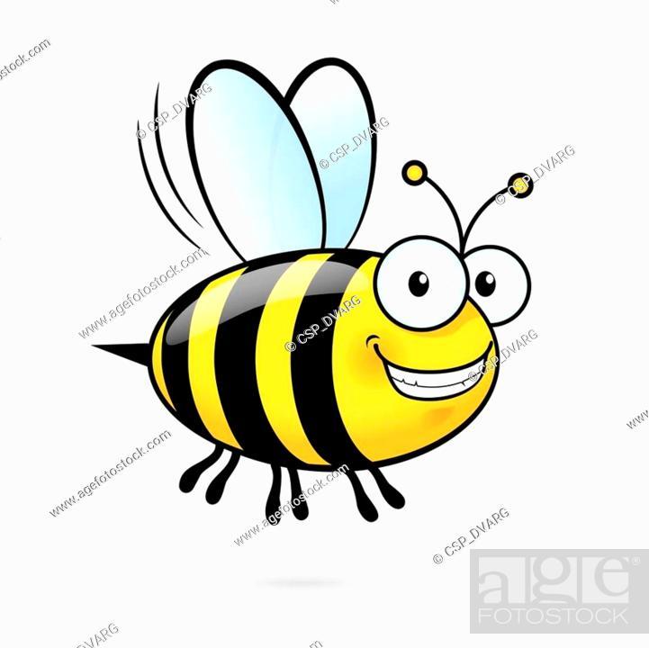 Stock Vector: Cartoon Bee.
