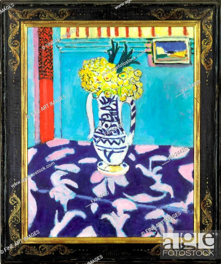 Les Coucous Tapis Bleu Et Rose Matisse Henri 1869 1954 Oil