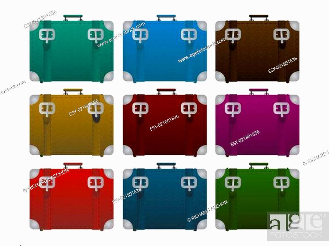 Stock Photo: Lugages, suitcase set.