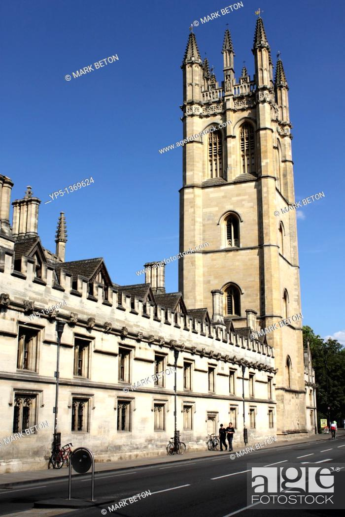 Stock Photo: Magdalen College Oxford.