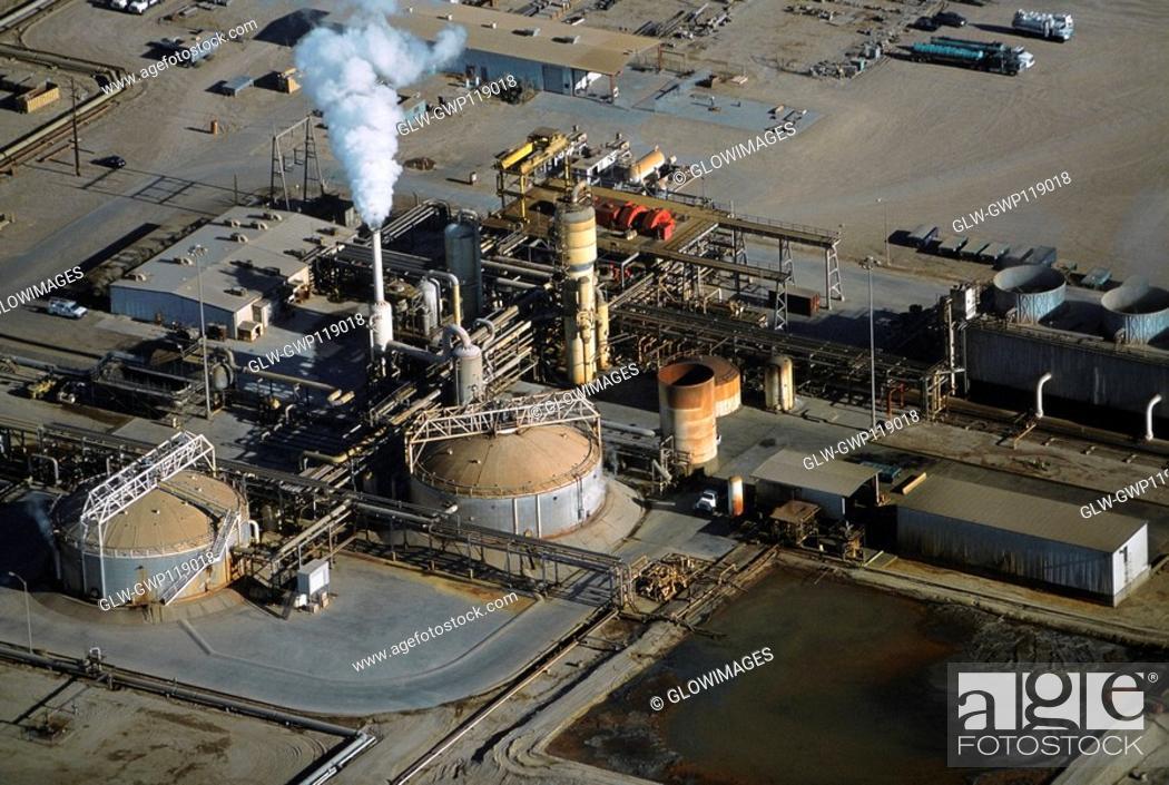 Stock Photo: Geothermal power plant, Calipatria, California.