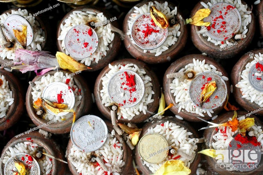 Imagen: Tantric offerings, Kathmandu, Nepal, Asia.