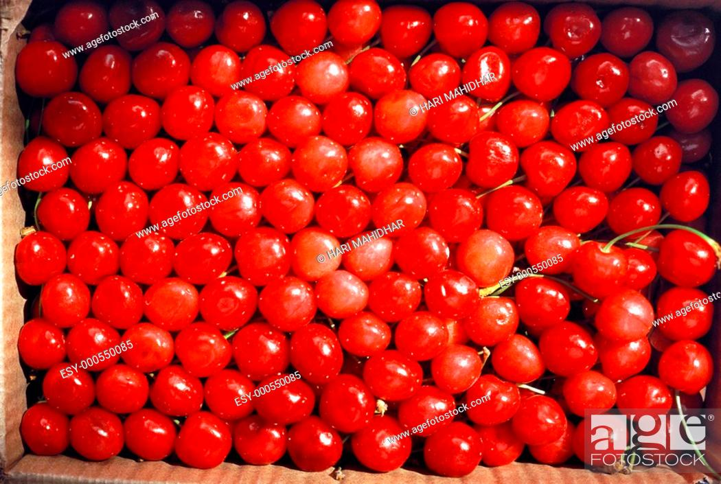 Stock Photo: Cherries , India.