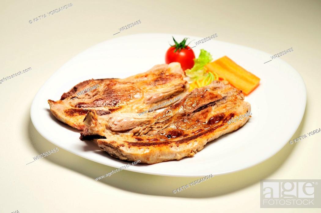 Stock Photo: Steak.