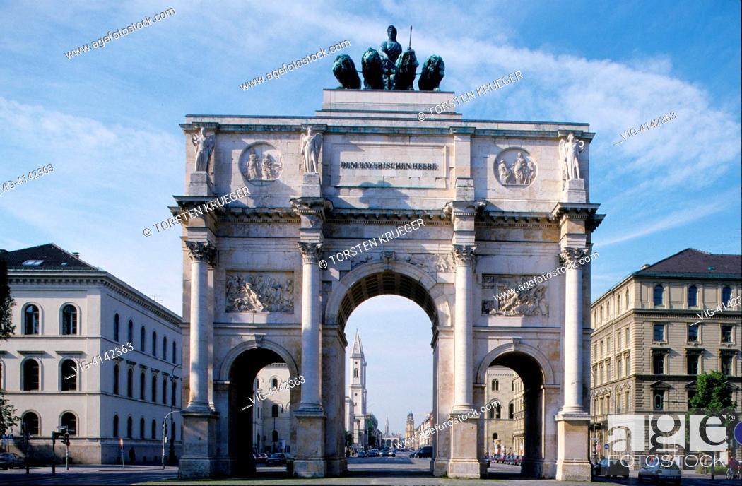Stock Photo: Germany, Munich : Triumphal Gate in Schwabing.
