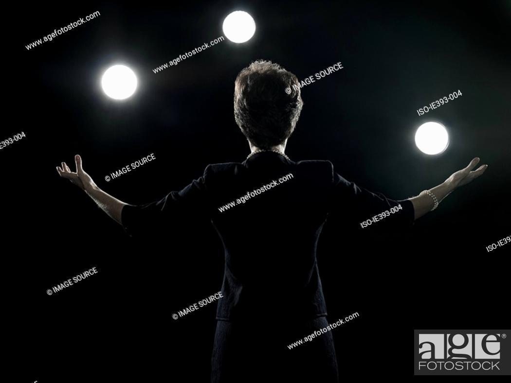 Stock Photo: Politician giving speech.