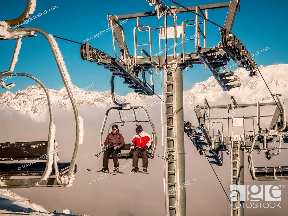 Stock Photo: LA NORMA, SKI RESORT, (73) SAVOIE, RHONE-ALPES.