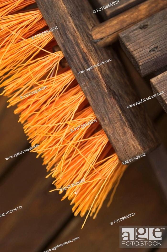 Stock Photo: Bristles, Brush, Close-Up, Day, Furrows.