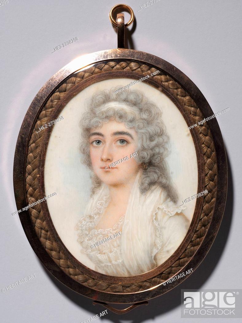 Stock Photo: Portrait of a Woman, c. 1795. Creator: Nathaniel Plimer (British, 1757-1822).