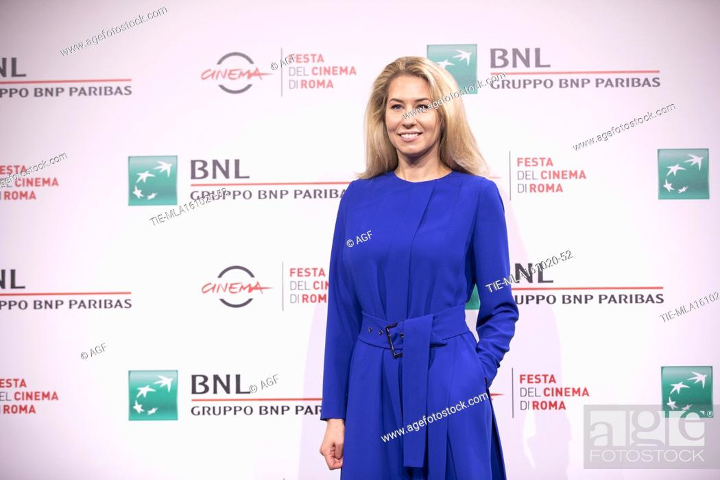 "Stock Photo: Director Giedre Zickyte attends the photocall of the movie """"The Jump"""" during the 15th Rome Film Festival on October 16, 2020 in Rome, Italy."