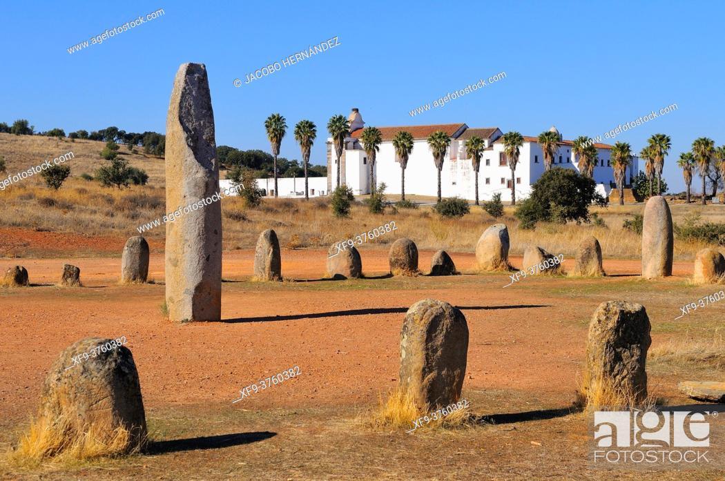 Stock Photo: Cromlech of Xerez. Monsaraz. Alentejo. Portugal.