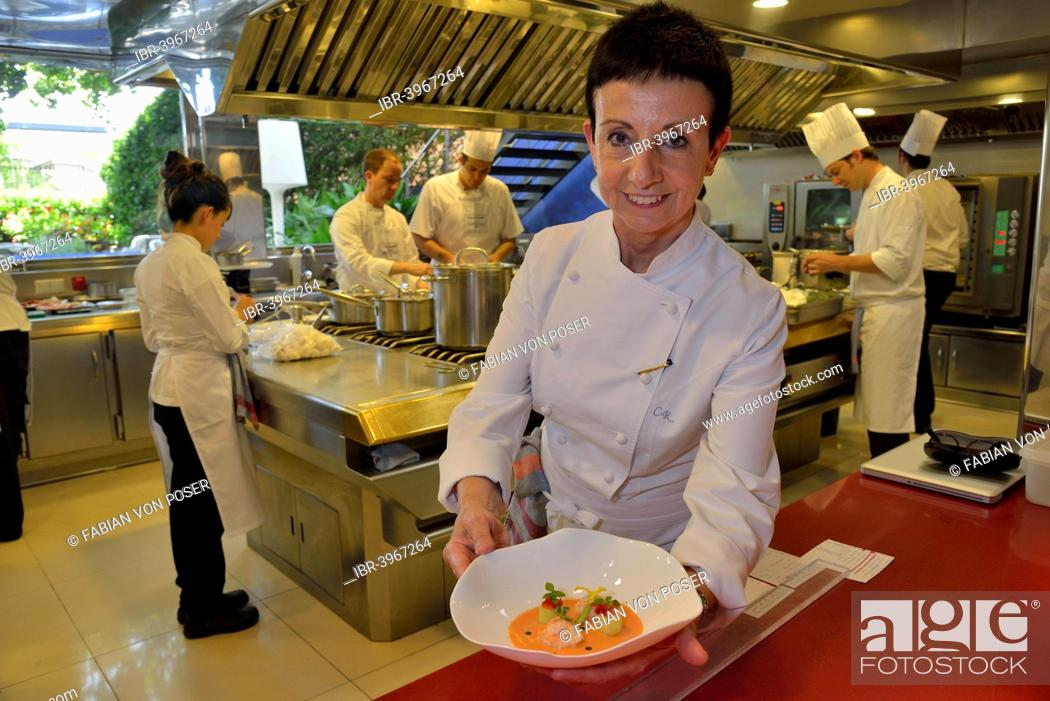 Star Chef Carmen Ruscalleda Three Michelin Stars In The Kitchen Of Her Restaurant Sant Pau Stock Photo Picture And Rights Managed Image Pic Ibr 3967264 Agefotostock