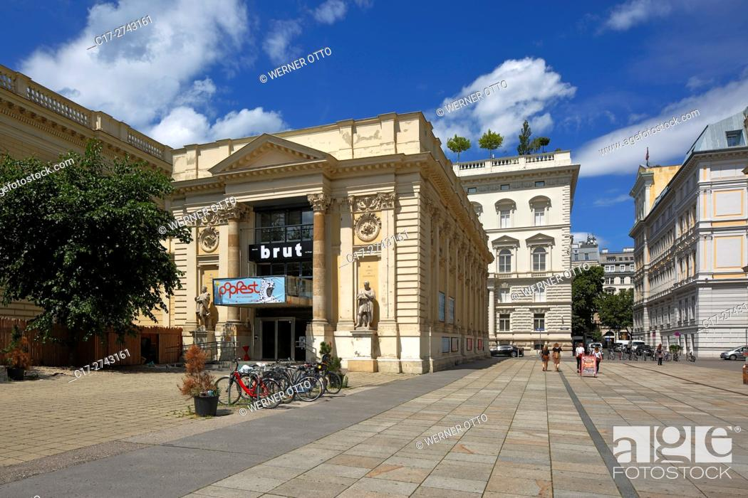 Stock Photo: Austria, A-Vienna, Danube, Federal Capital, Vienna Kuenstlerhaus at the Karlsplatz, exhibition building, theatre, cinema, UNESCO World Heritage Site.