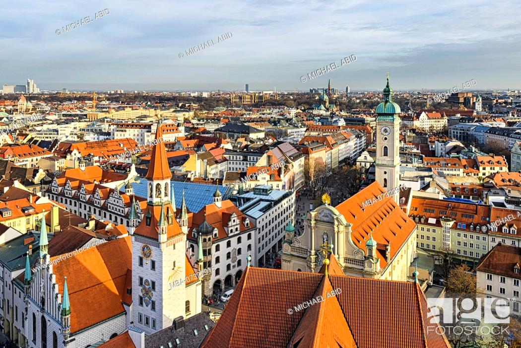 Photo de stock: Aerial panorama of Munich city center, Germany.