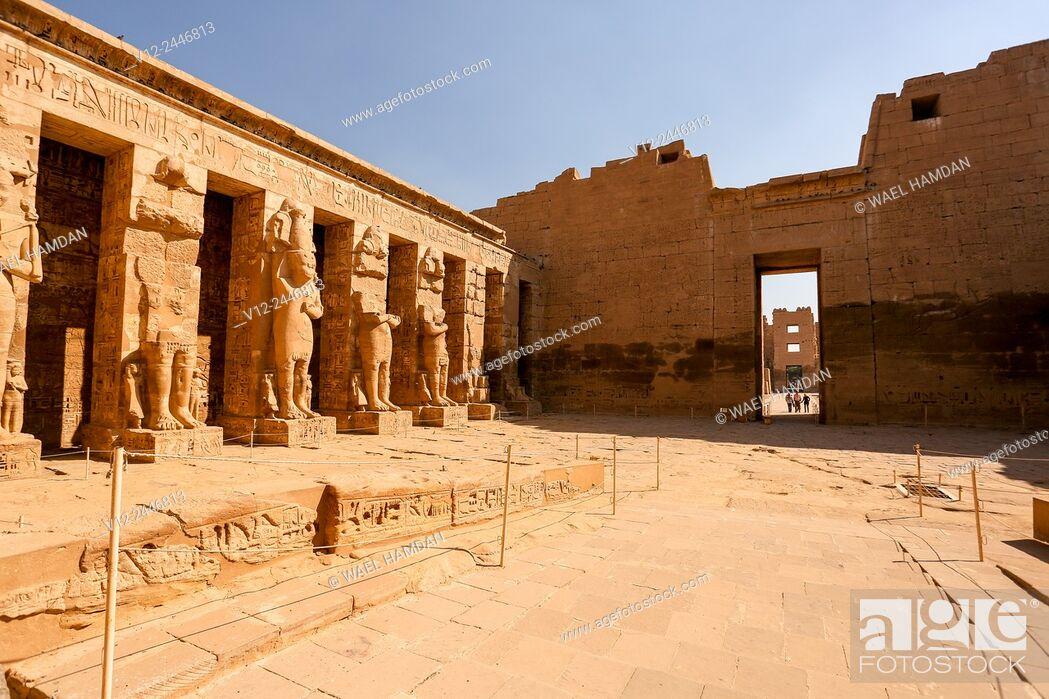 Stock Photo: Medinet Habu temple, Luxor, Egypt.