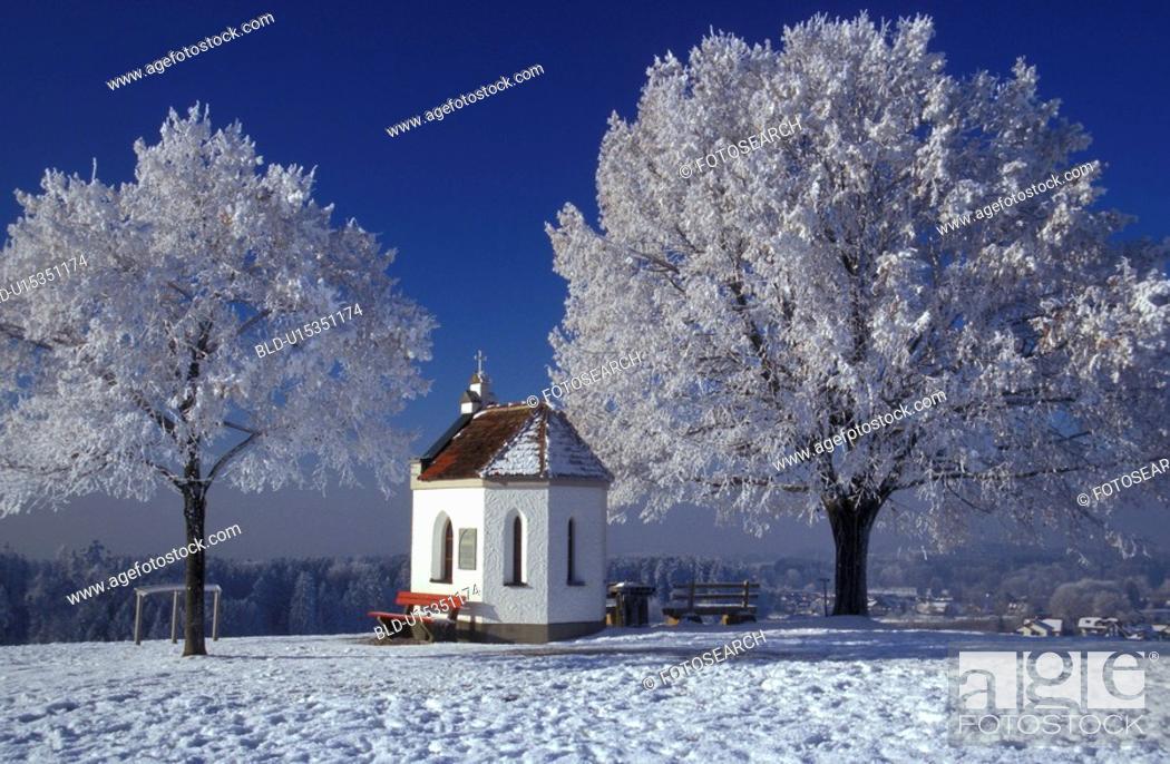Stock Photo: blue, bavaria, bavarian, Bavarian, Bavaria, chapel, away.