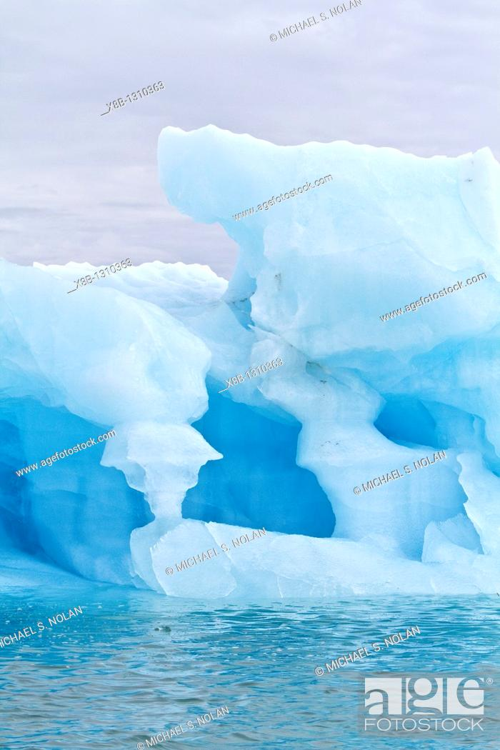 Stock Photo: Ice in all of its myriad forms in the Svalbard Archipelago, Norway  MORE INFO Global climate change is affecting the formation and duration of ice in all its.