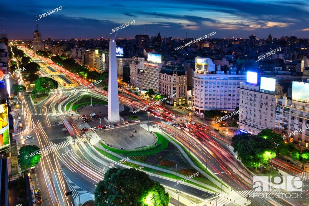 Imagen: Obelisco. Avenida 9 de Julio. Buenos Aires. Argentina.