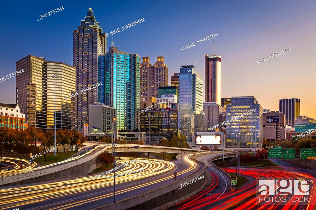Stock Photo: Atlanta is the capital and most populous city in the U. S. state of Georgia. Atlanta's population is 545, 225. Atlanta is the cultural and economic center of.