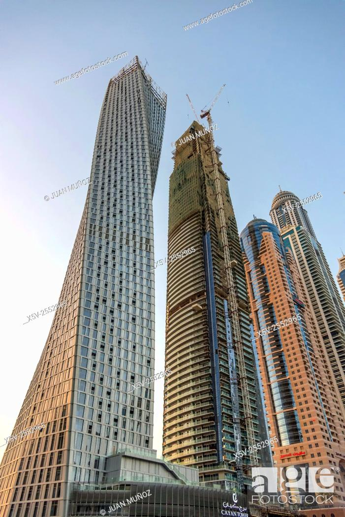 Stock Photo: Dubai Marina. Dubai. United Arab Emirates. middle East.