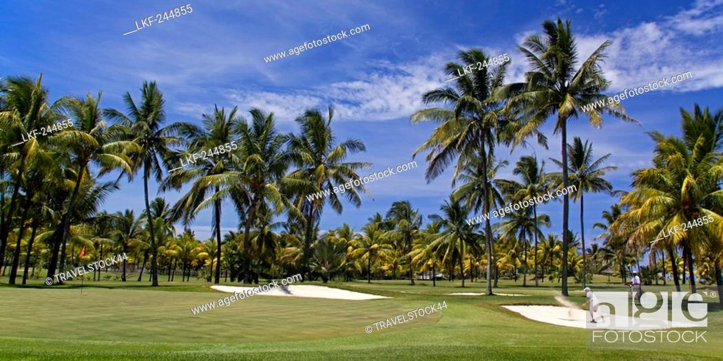 Stock Photo: Golf Course in Belle Mare, Flacq, Mauritius, Africa.