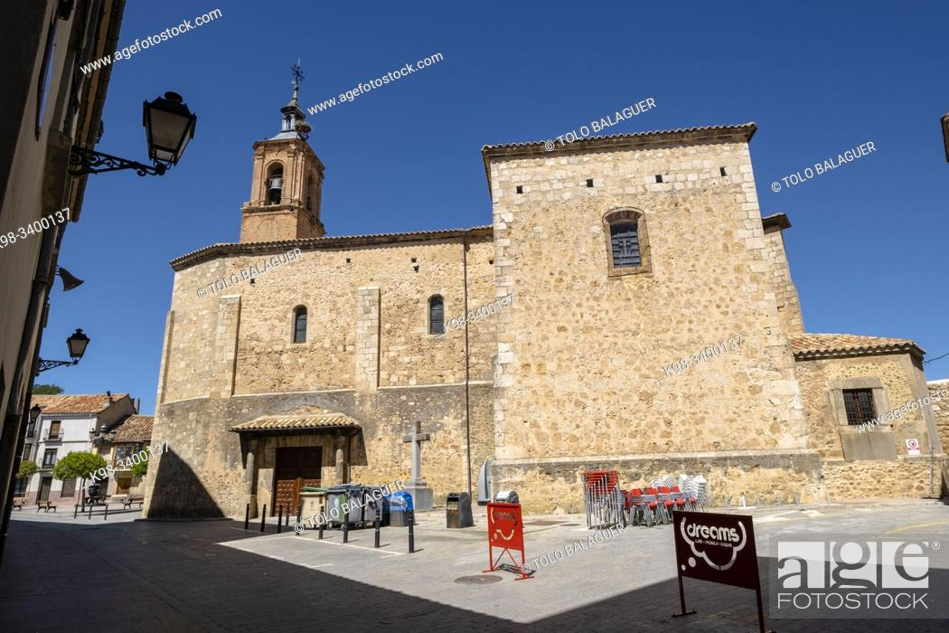 Imagen: Iglesia de Santa María de Calatañazor, siglo XVI, Almazán, Soria, comunidad autónoma de Castilla y León, Spain, Europe.