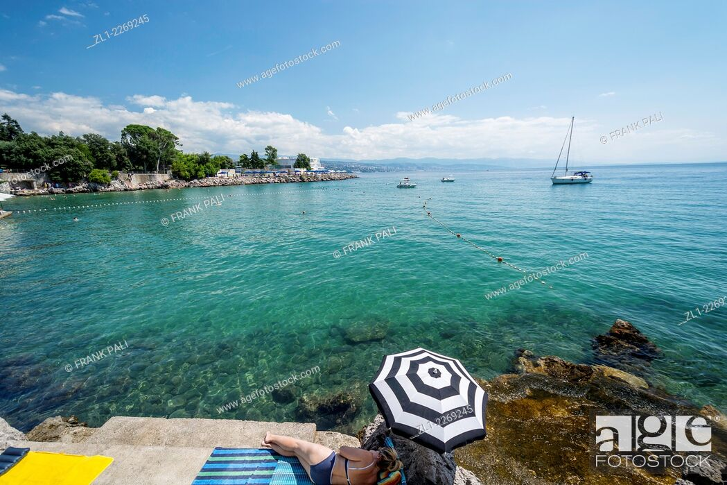 Stock Photo: Opatija has been one of the most popular destinations for sightseeing in Croatia since the 19th century when the Habsburgs turned it into one of Europe's most.