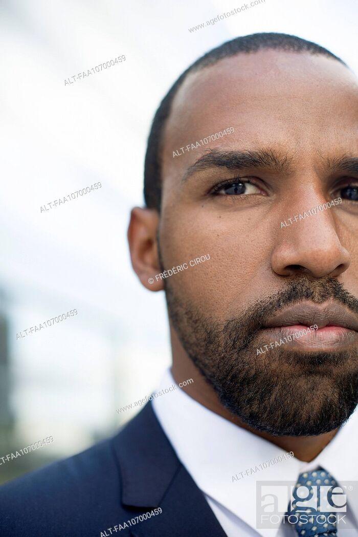 Stock Photo: Serious businessman, portrait.