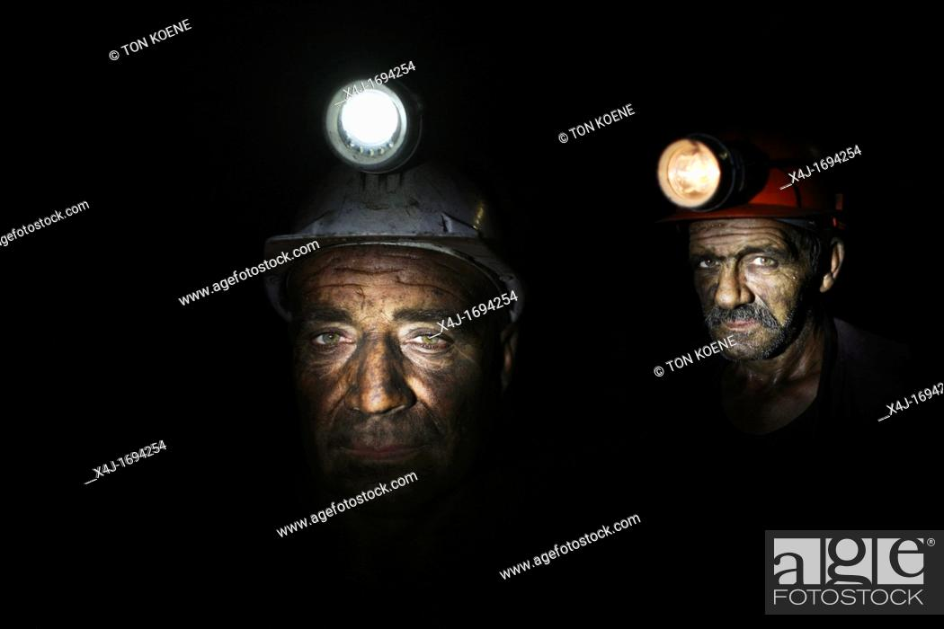Photo de stock: There are several undergound coal mines In Bulgaria still operational Coals are being used to generate electricty in the powerstations nearby the mine The coals.