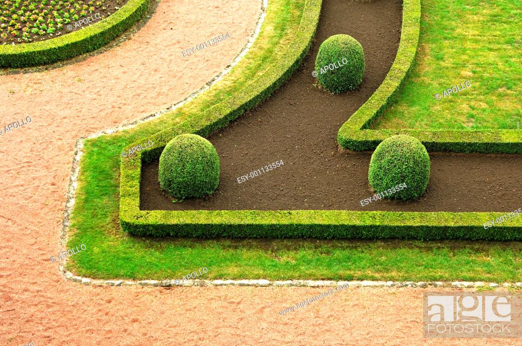 Stock Photo: The art of gardening, details from a park.