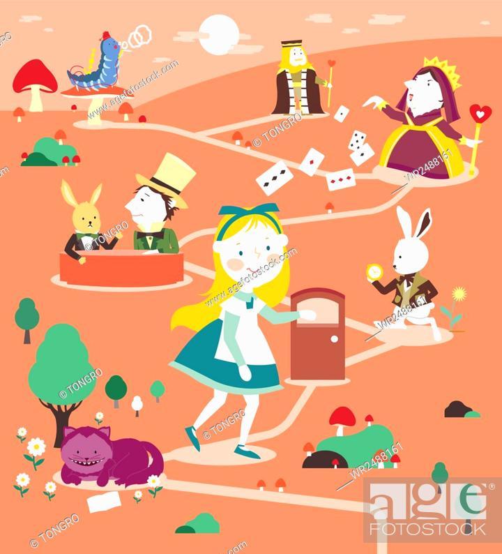 is alice in wonderland a fairy tale