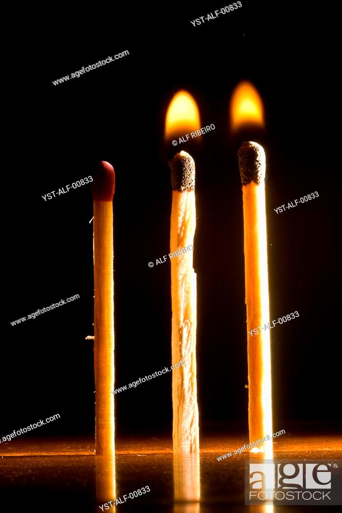 Stock Photo: matchstick, phosphorus, Brazil.
