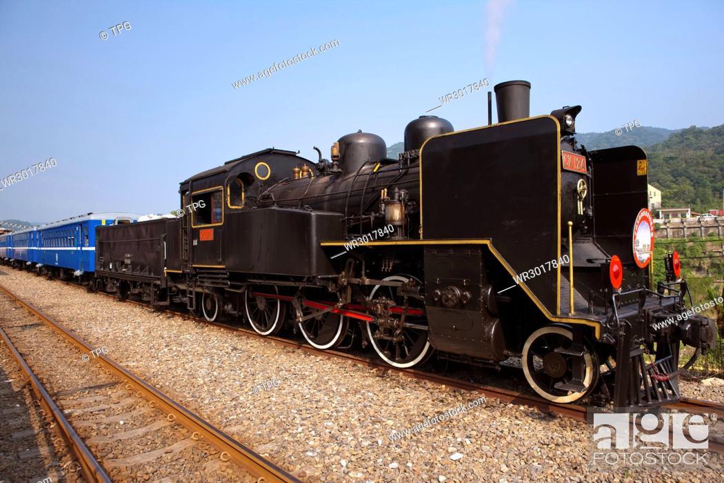 Stock Photo: Shihfen station, CK124 steam train.