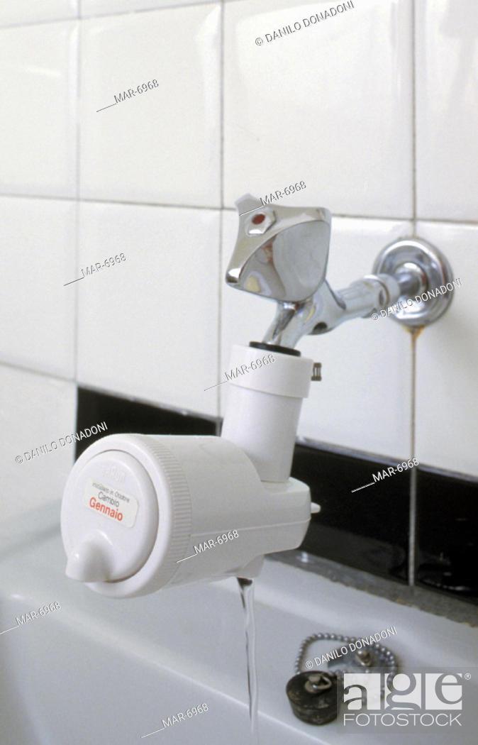 Stock Photo: water desalinator and softener, alzano lombardo, italy.