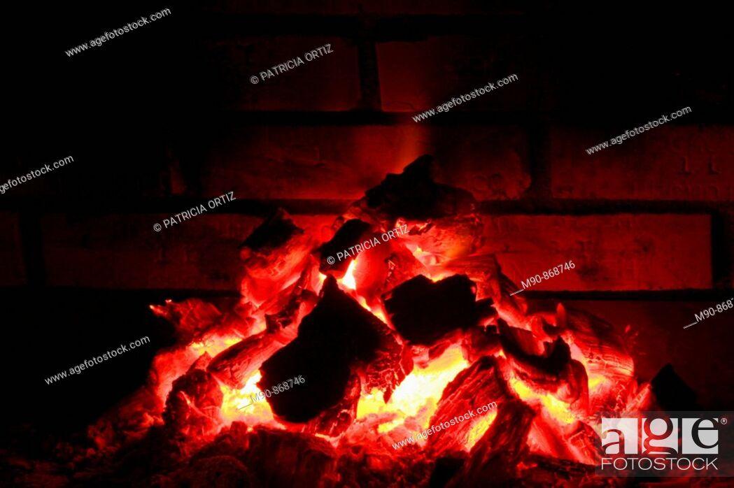 Stock Photo: Coal Fire.