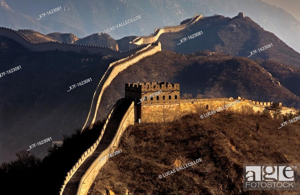 Stock Photo: Great Wall, Badaling section,Beijing, China.