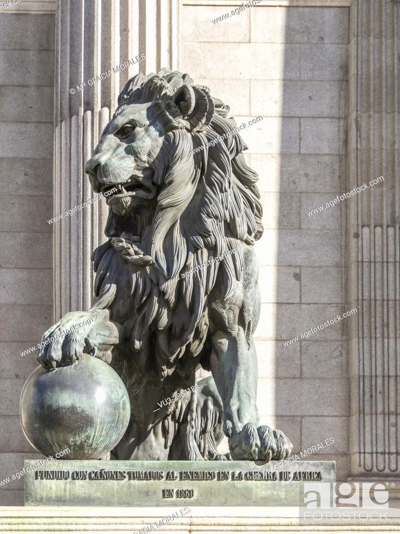Stock Photo: Congress of deputies. Madrid, Spain.