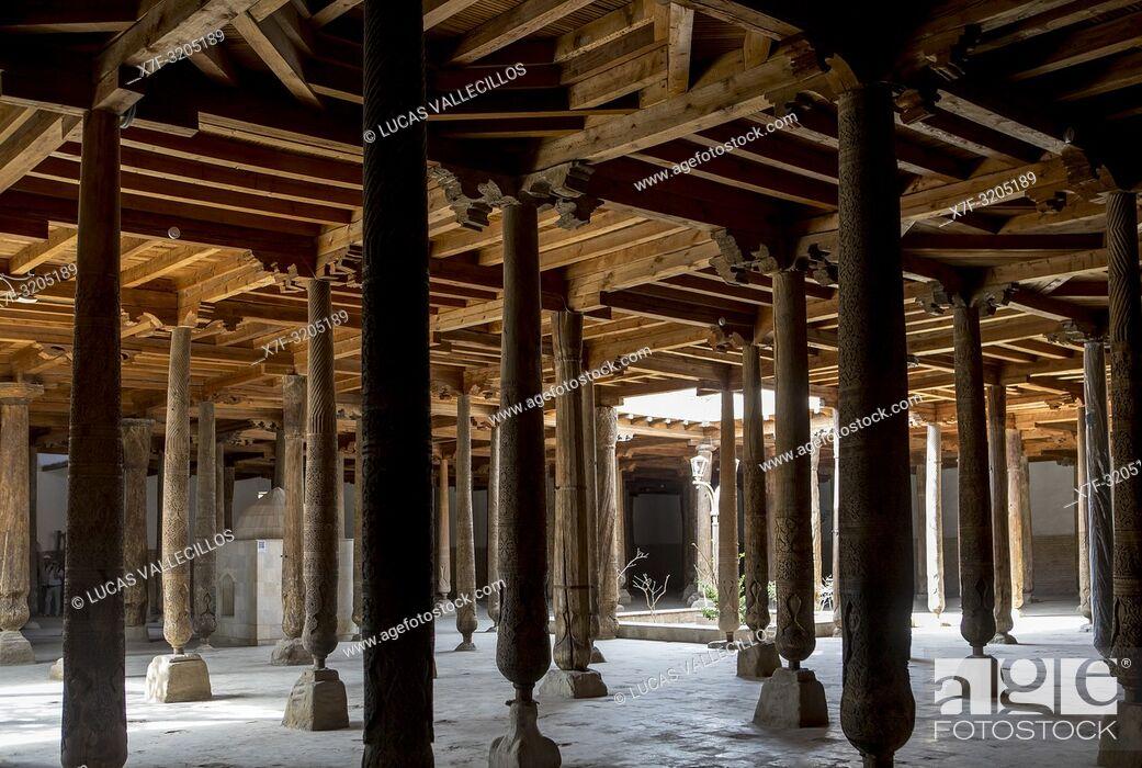 Stock Photo: Juma Mosque, Khiva, Uzbekistan.