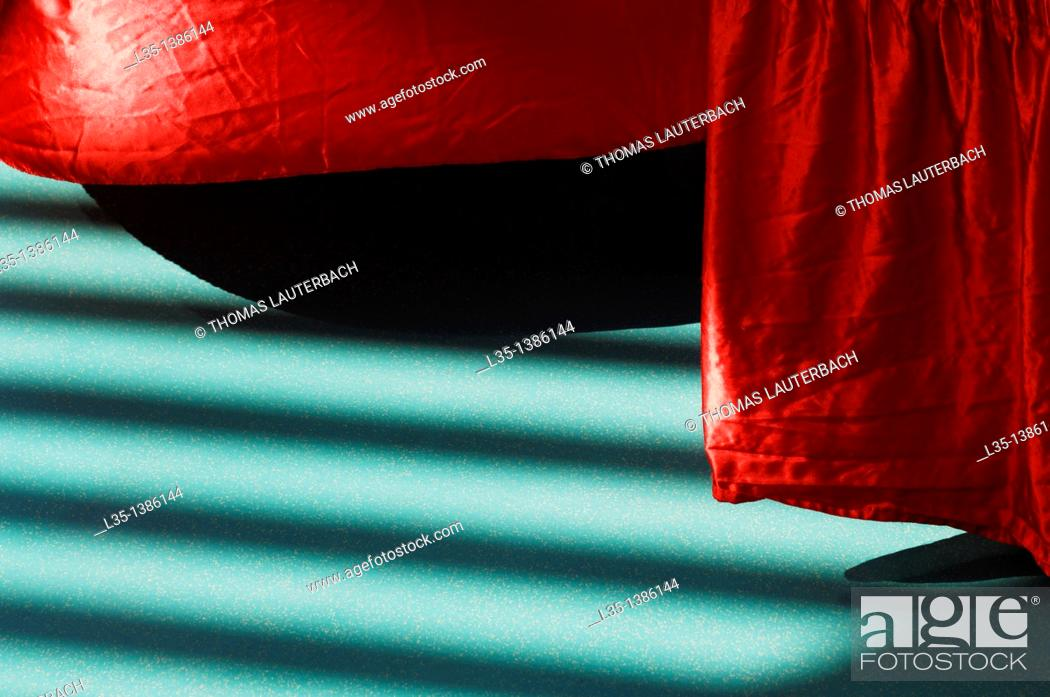 Stock Photo: Red table border.
