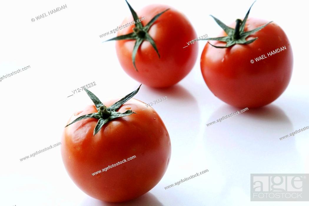 Stock Photo: Isolated Tomatoes fruit.