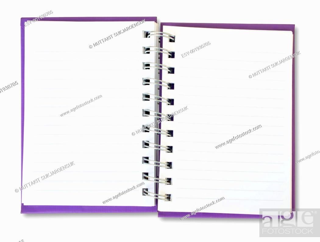 Stock Photo: Purple Note Book.